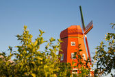 Orange windmill — Stock Photo