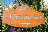 Freiluftrestaurant zeiger — Stockfoto