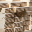 Stack of pine wood planks — Stock Photo