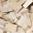 Heap of pine wood cuttings — Stockfoto