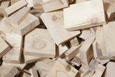 Heap of pine wood cuttings — Stock Photo
