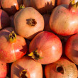 Batch of ripe pomegranates — Stock Photo