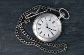 Shiny silver chain watch — Stock Photo