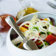 Version of greek salad (with eggs) — ストック写真