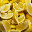 Batch of lemon segments — Stock Photo