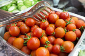 Bowl with cherry tomatoes — Stock Photo