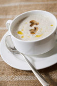 Cream soup with mushrooms — Stock Photo
