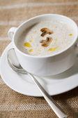 Cream soup with mushrooms — Stock Photo