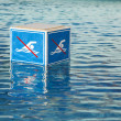 NO Swimming  prohibition sign — Stock Photo
