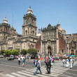 Cathedral Metropolitana in Mexico City - Stock Photo