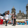 Mexican lucha libre on a Zocalo in Mexico City — Stock Photo