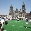 Rugby players on Zocalo in Mexico City — Стоковая фотография