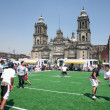 Rugby players on Zocalo in Mexico City — Stock Photo