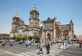 Catedral metropolitana en la ciudad de méxico — Foto de Stock