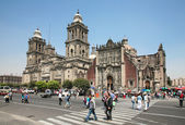 墨西哥市大都会大教堂的教堂 — 图库照片