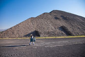Pyramid of the Sun in Teotihuacan — Stock Photo