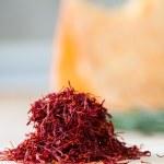 Handful of saffron — Stock Photo