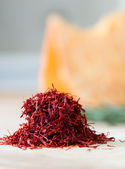 Handful of saffron — Stock Photo