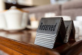 Reserved table signs — Foto Stock