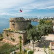Old Castle Tower in Antalya, Kaleichi — Stock Photo #38196255