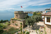 Old Castle Tower in Antalya, Kaleichi — Stock Photo