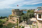 Old Castle Tower in Antalya, Kaleichi — Stock Photo
