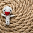 Stock Photo: Valentine thread doll