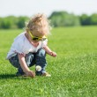 Stock Photo: Little girl on grass