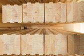Glued timber beams — Stock Photo