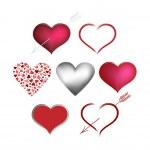Set Valentines hearts — Stock Vector #8669369
