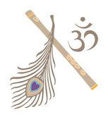 Indian God symbol — Stock Vector