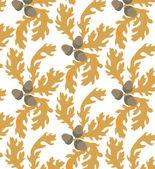 Autumn oak seamless — Stock Vector