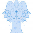Angel of Christmas — Stock Vector