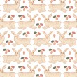 Easter rabbit pattern - Stock Vector