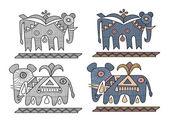 Éléphant — Vecteur
