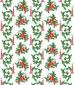 Noel çanları ve mumlar — Stok Vektör