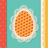 Easter eggs card — Stock Vector