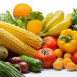 Colorful fresh group of vegetables and fruits — Stock Photo