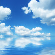 Cloudscape and sea — Stock Photo