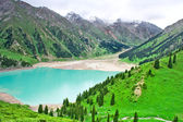 Lake mountain Central Asia, Trans Ili Alatau — Stock Photo