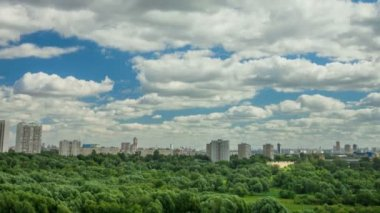 Suburb of Moscow. Timelapse. — Stock Video