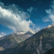 Royalty-Free Stock Imagen vectorial: Timelapse. India.Mountains and clouds.