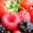 Berrys - strawberry, currant, blackberry, raspberry... — Stock Video