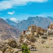 Dhankar gompa. Spiti Valley, Himachal Pradesh, India - Stock Photo