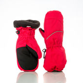 Children's autumn-winter mittens — Stok fotoğraf