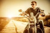Motociclista — Fotografia Stock