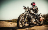 Fille de biker — Photo