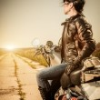 Biker girl — Stock Photo #13764932