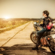 Royalty-Free Stock Photo: Biker girl