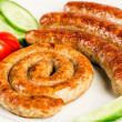 Grilled meat sausages — Stock Photo